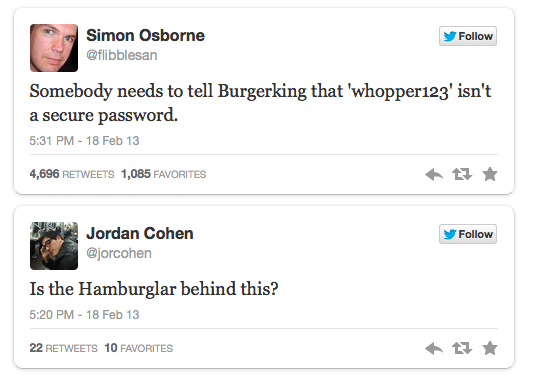 Burger King hacking reactions