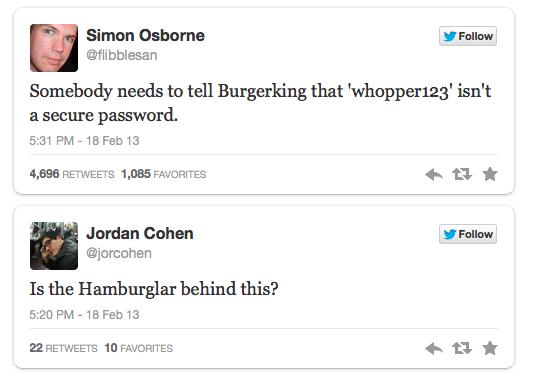 Burger King hacking reactions