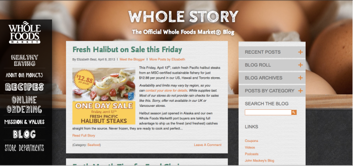 WholeFoodsOfficialBlog