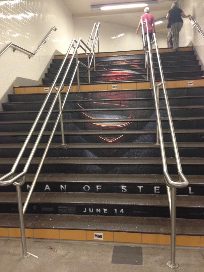 Man of Steel Subway Steps